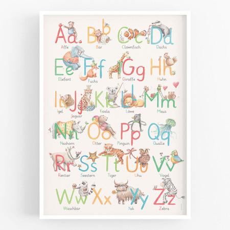 Buchstabenplakat