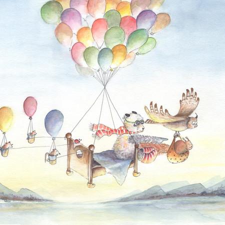 Luftballonreise