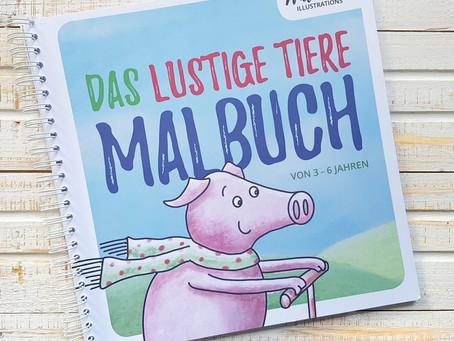 Malbuch - die Feinmotorik von Kindern fördern - mit Freebie!