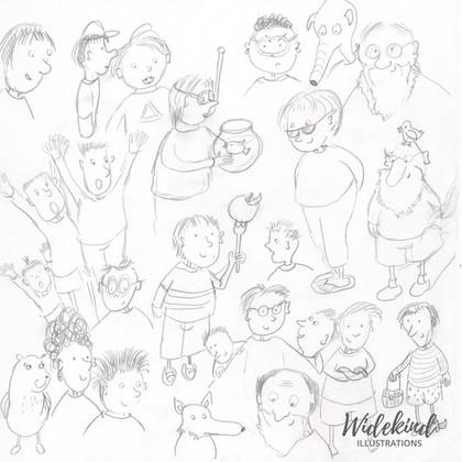 Skizzen Menschen