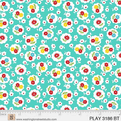 Playtime - Posies Teal $28 pm