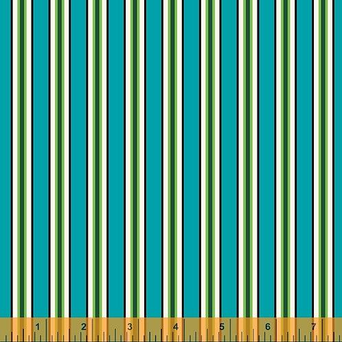Five + Ten - Candy Stripe Cyan $30 pm