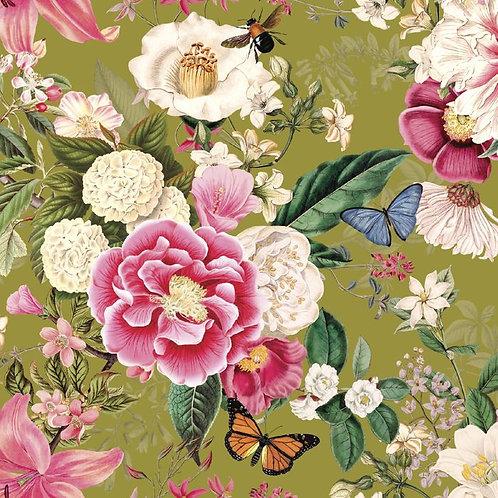 Flower Festival - Floral Green $28 pm