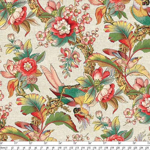Chinoiserie Cotton/Linen - Warm 1.4m wide $35 pm