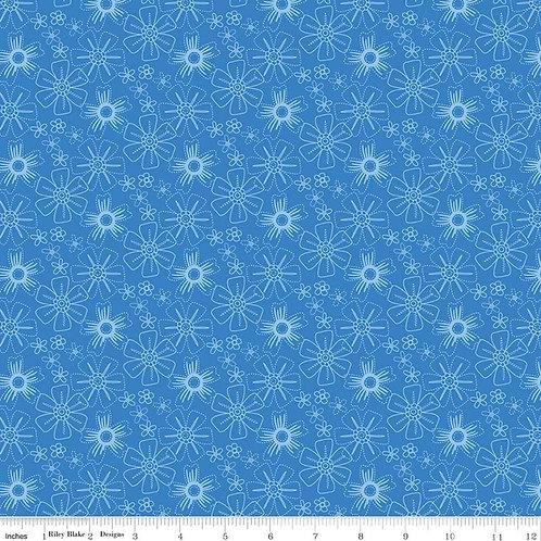 Blue Stitch - Floral Blue $28 pm