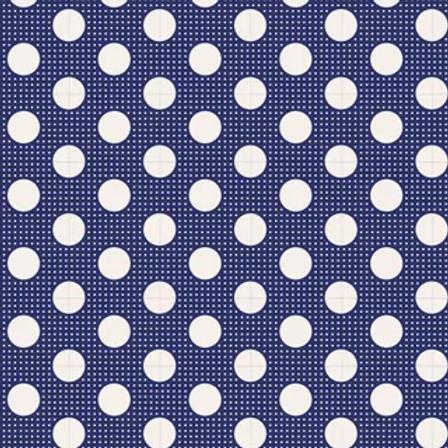 Tilda Basics - Medium Dots Night Blue $26 pm