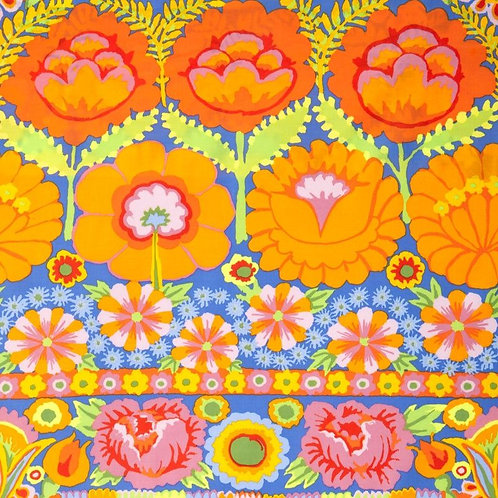 Kaffe Fassett - Embroidered Border Orange  $28 pm