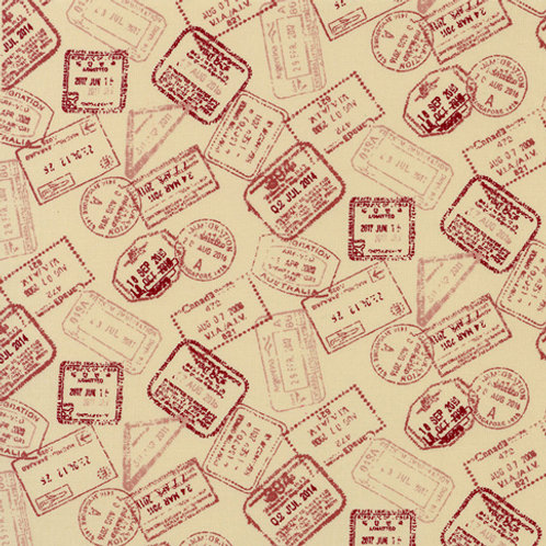 American Country - Postage Stamp Red $28 pm