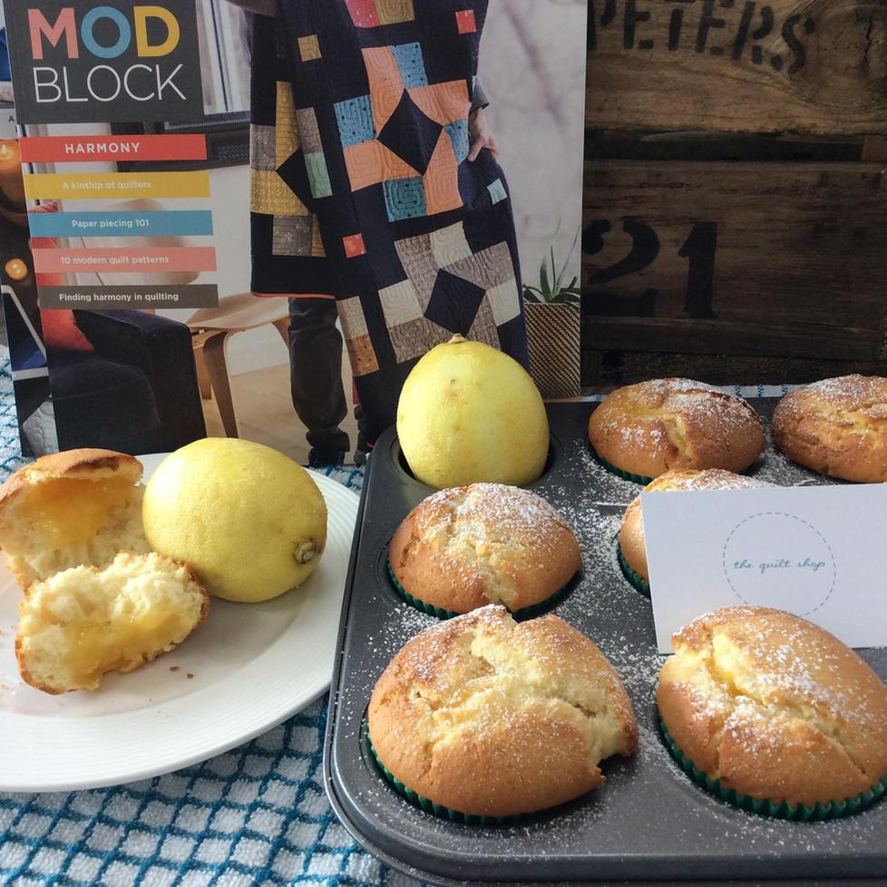 The Quilt Shop Lemon Curd Cupcakes