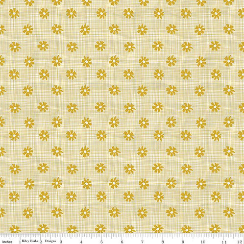 Petals and Pots - Weave Mustard $28 pm