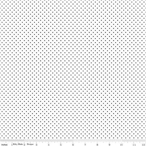 Swiss Dot - Black on White $28 pm