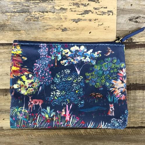 Velvet Enchanted Forest Cosmetic Bag
