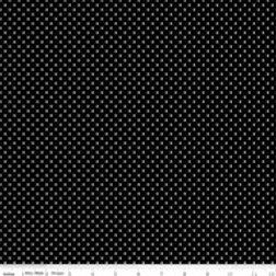 Swiss Dot - White on Black $28 pm