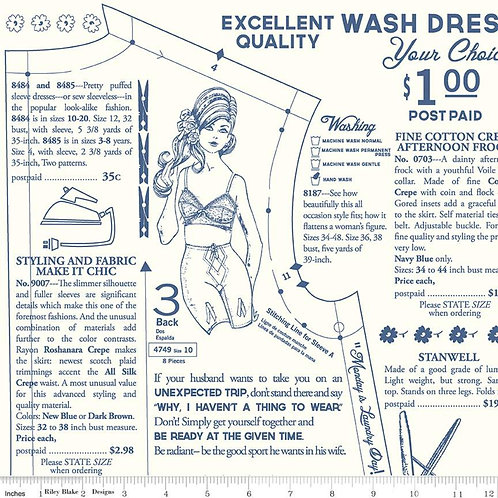 Vintage Happy 2 - Dressmaking Cloud $28 pm