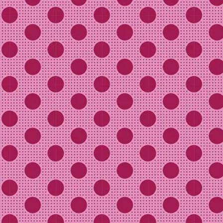 Tilda Basics - Medium Dots Maroon $26 pm