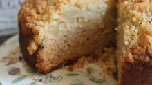 Apple and Ginger Cake with Macadamia  Streusel