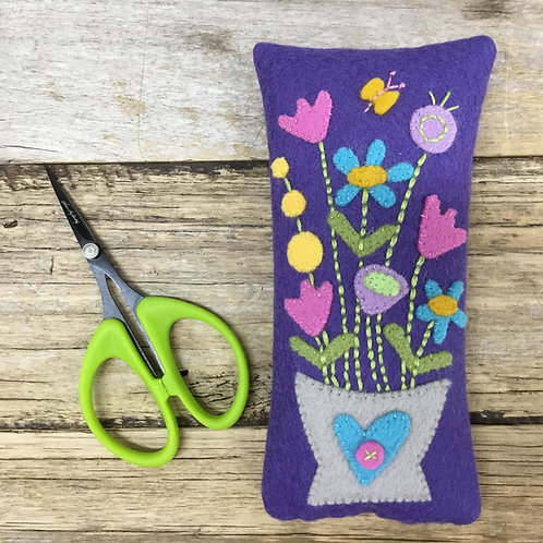 Maisy's Flowers Pincushion Kit - Purple