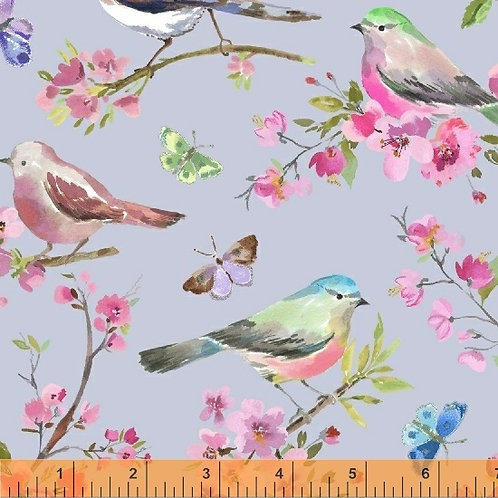 Serendipity - Birds Periwinkle $28 pm