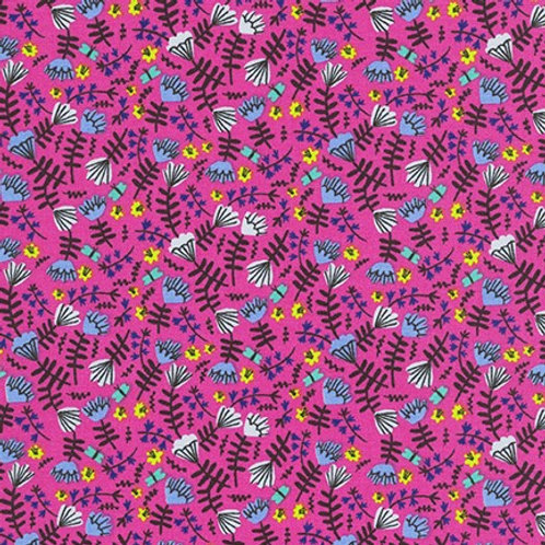 Wild and Free - Jungle Flowers Hot Pink $30 pm