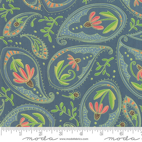 Painted Meadow - Coneflower Paisley Teal $28 pm