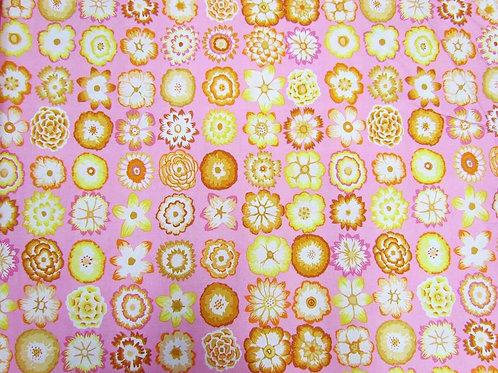 Kaffe Fassett - Button Flowers Pink $24 pm