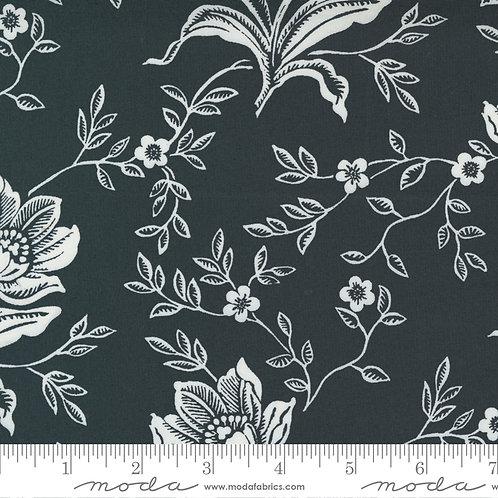 "Woodcut Floral 108"" Coal"