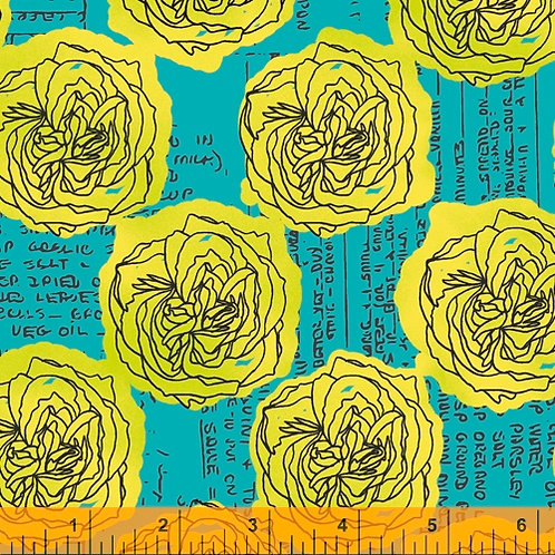 Norma Rose - Kitchen Bouquet Turquoise $30 pm