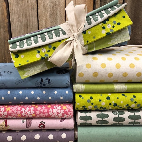 Cotton Linen Blend 10 x 25cm Strip Bundle - Assorted