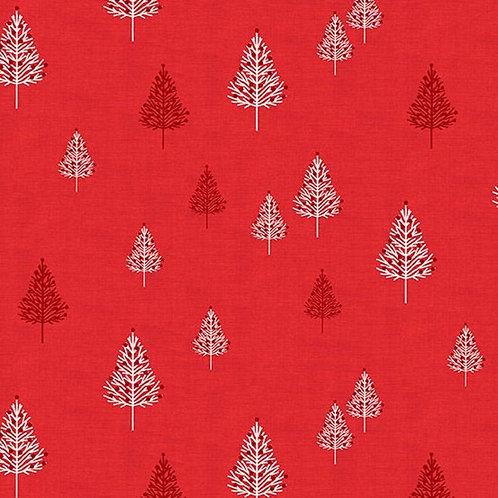 Scandi - Trees Red $28 pm