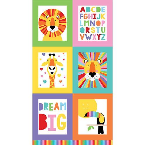 Safari Alphabet Panel