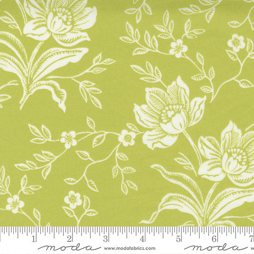 """Woodcut Floral 108"""" Green"""