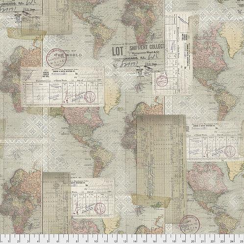 Memoranda 3 - World Map Multi $28 pm