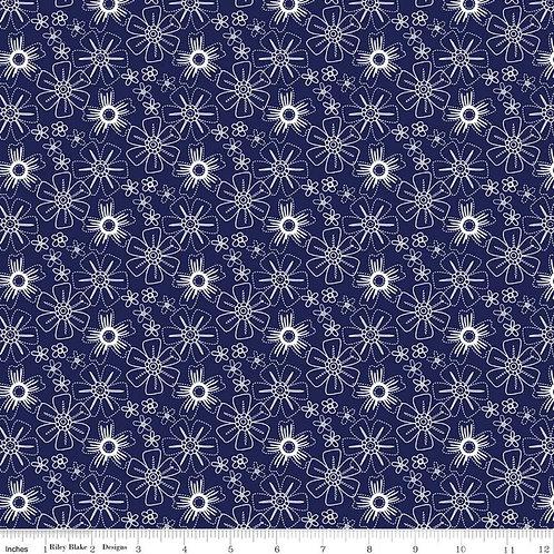 Blue Stitch - Floral Navy $28 pm