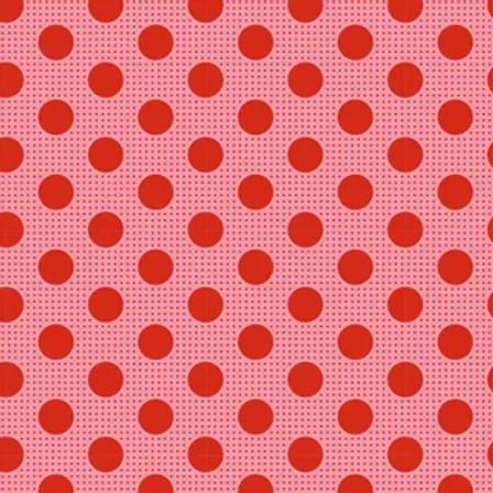 Tilda Basics - Medium Dots Salmon $26 pm