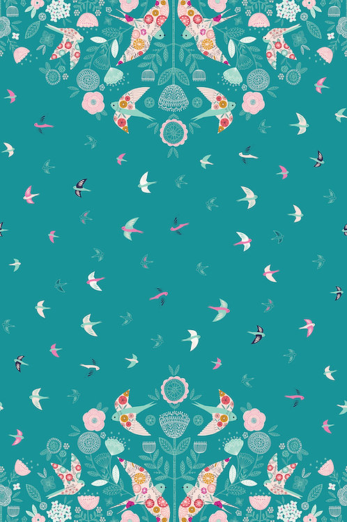 Summer Dance - Flying Border Teal $28 pm