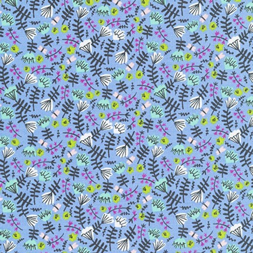 Wild and Free - Jungle Flowers Periwinkle$30 pm