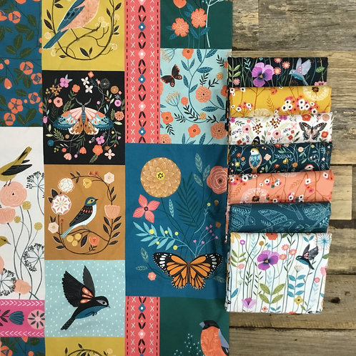 Aviary 25cm strip+ feature fabric bundle