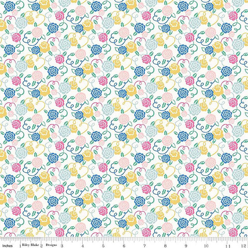 Liberty Deco Dance Collection - Ribbon Bloom $30pm
