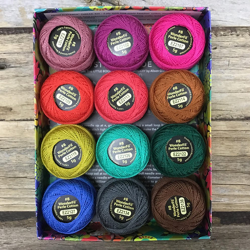 Alison Glass Perle 8 Threads - Flora