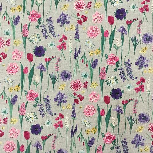 Floral Stems Cotton/Linen Blend $35 pm