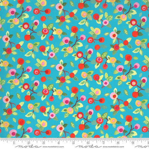 Flower Blossoms Turquoise