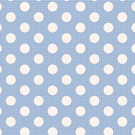 Tilda Basics - Medium Dots Blue $26 pm