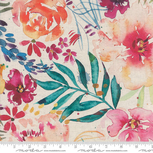Brightly Blooming Cotton/Linen Blend $35 pm