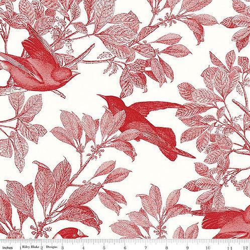 Classic Caskata - Birds Red $30 pm