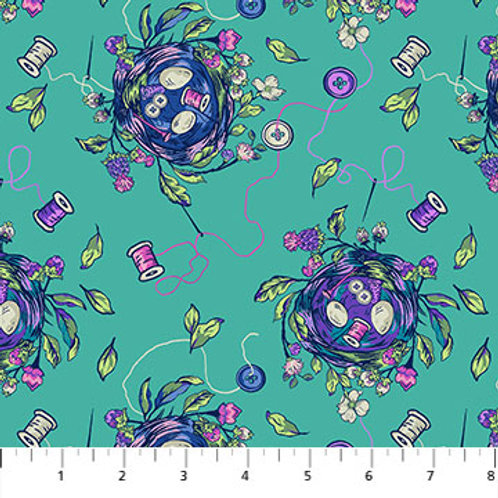 Stag and Thistle - Sew Bountiful Dark Turquoise $20 pm was $28pm