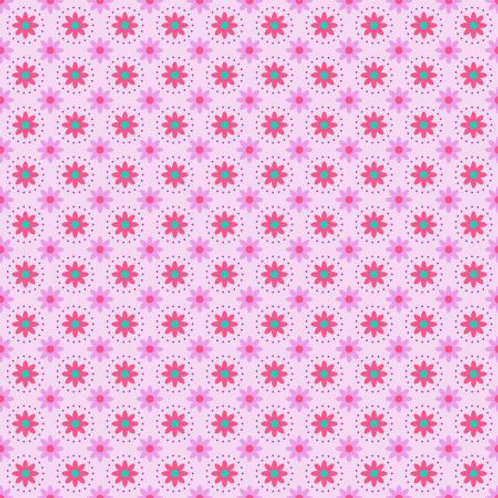 From the Desk Of .... - Daisies In Circles Magenta  $30 pm