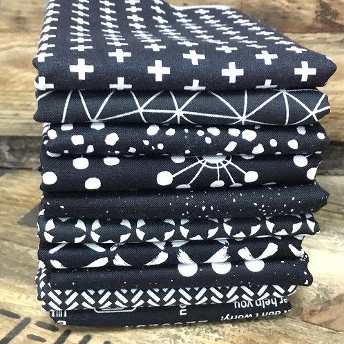 Black with White Fat Quarter Bundle