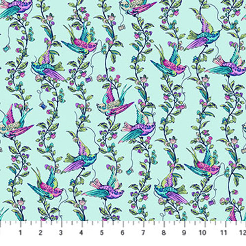 Stag and Thistle - All A Flutter Light Turquoise $20 pm was $28pm