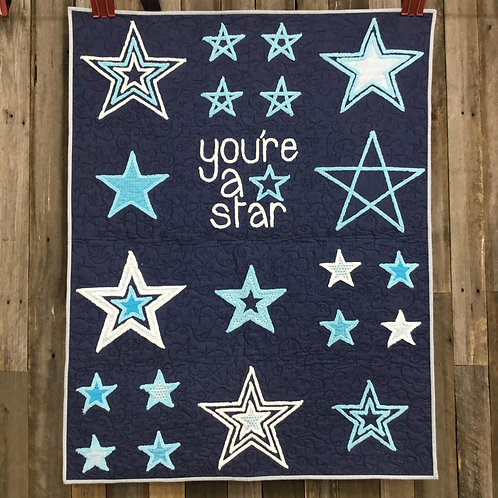 You're A Star Pattern featuring Chenille-It Blooming Bias