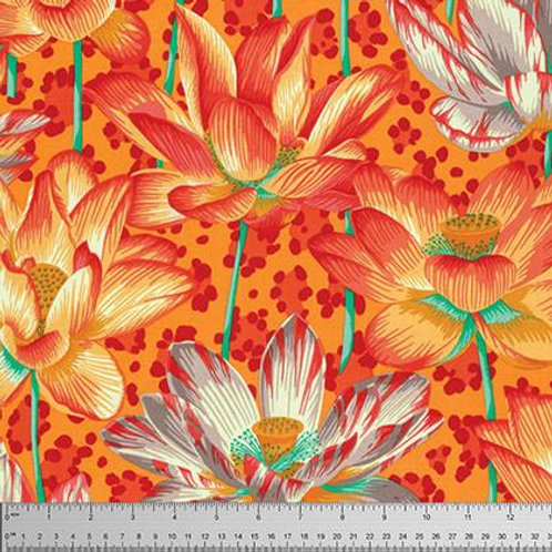 Kaffe Fassett - Leopard Lotus Orange  $28 pm